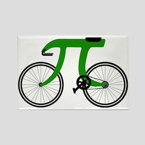 Pi Bike green Rectangle Magnet