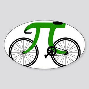 Pi Bike green Sticker (Oval)