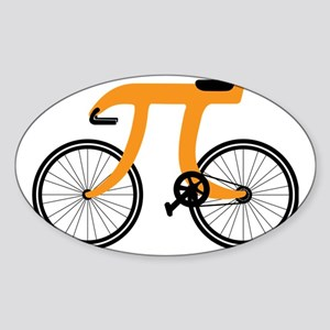 Funny Bicycle 3.14 Sticker (Oval)