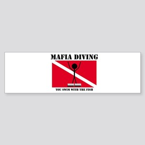italy Mafia Mob Diving Bumper Sticker
