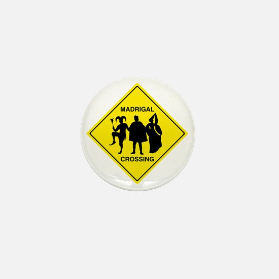 Madrigal Crossing Mini Button