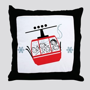 Gondola Ride Throw Pillow
