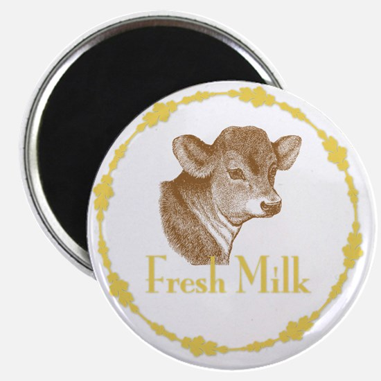 Fresh Milk with Young Calf Magnet