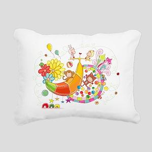 Banana Land Rectangular Canvas Pillow