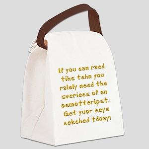 Poor Eyesight Canvas Lunch Bag