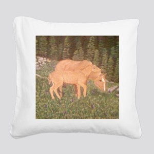 Mare and goal Square Canvas Pillow