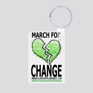 March For Change Aluminum Photo Keychain