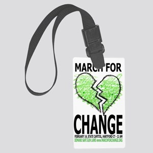 March For Change Large Luggage Tag