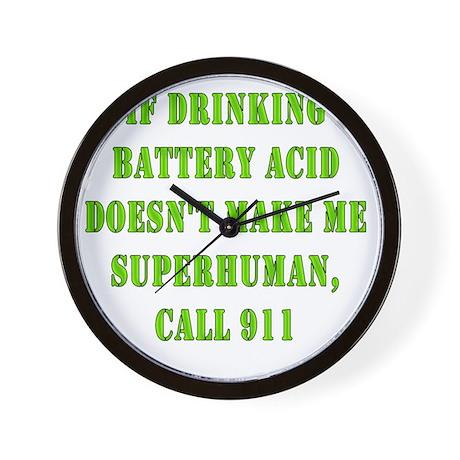 Drink Battery Acid Wall Clock