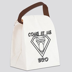 Lacrosse Come at Me Bro Canvas Lunch Bag