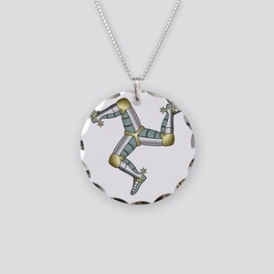 Treskelion of the three legs Necklace Circle Charm