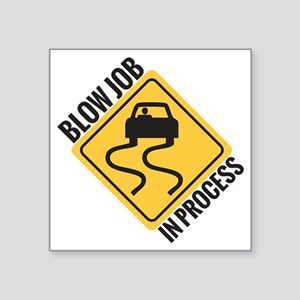 "blow job Square Sticker 3"" x 3"""