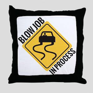 blow job Throw Pillow