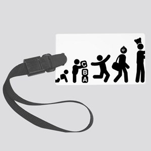 Pizza-Making-AAG1 Large Luggage Tag