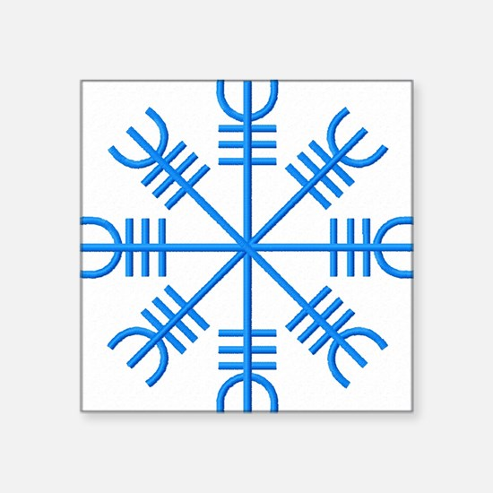 "Aejishjalmur or Helm of Awe Square Sticker 3"" x 3"""