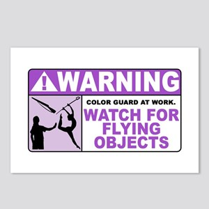 Flying Objects, Purple Postcards (Package of 8)