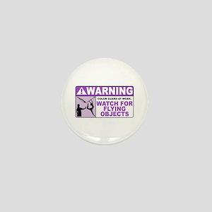 Flying Objects, Purple Mini Button