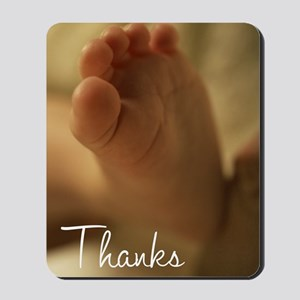 Baby Gift Thank You Card Mousepad