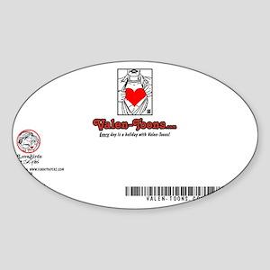 2301A-BLIMP-BACK Sticker (Oval)