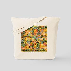 Spring Flower Patchwork Quilt Tote Bag