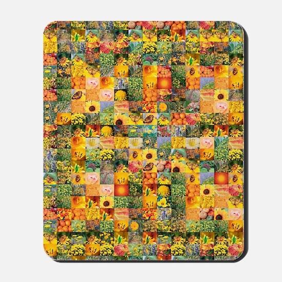 Spring Flower Patchwork Quilt Mousepad