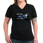 HAMSter Women's V-Neck Dark T-Shirt