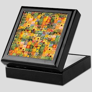 Spring Flower Patchwork Quilt Keepsake Box
