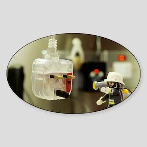 Electrical fire Sticker (Oval)