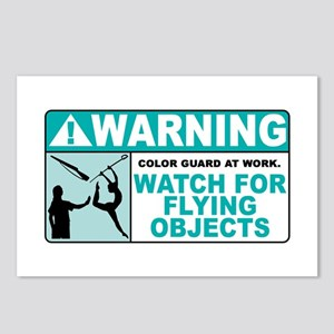 Flying Objects, Teal Postcards (Package of 8)