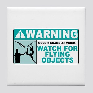 Flying Objects, Teal Tile Coaster