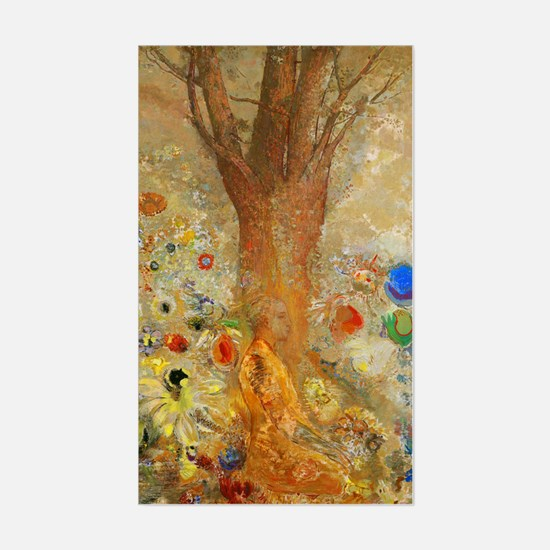 Odilon Redon Buddha In His You Sticker (Rectangle)