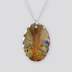 Odilon Redon Buddha In His You Necklace Oval Charm