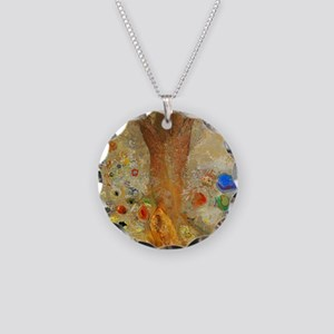 Odilon Redon Buddha In His Y Necklace Circle Charm