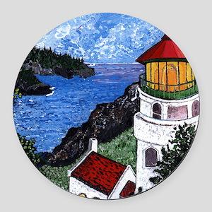 Heceta Head Lighthouse, Oregon Round Car Magnet