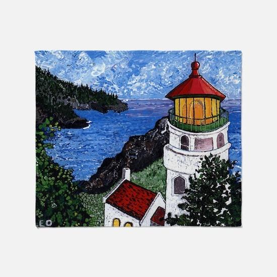 Heceta Head Lighthouse, Oregon Throw Blanket