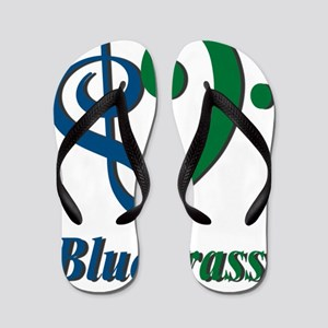 Treble_Bass_Bluegrass_BlueGreen Flip Flops