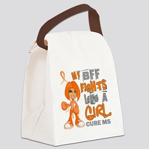 D BFF Fights Like Girl MS 42.9 Canvas Lunch Bag
