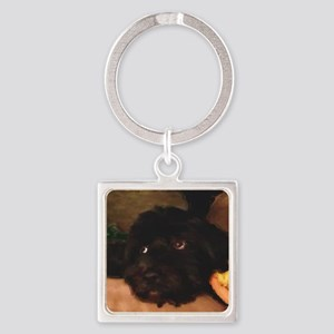Would this face lie? Square Keychain