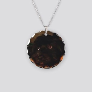 Would this face lie? Necklace Circle Charm