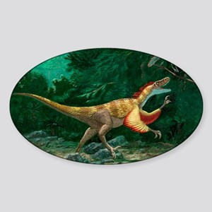 Feathered dinosaurs Sticker (Oval)
