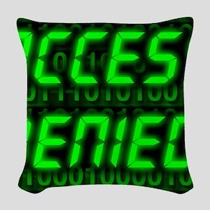 Electronic security Woven Throw Pillow
