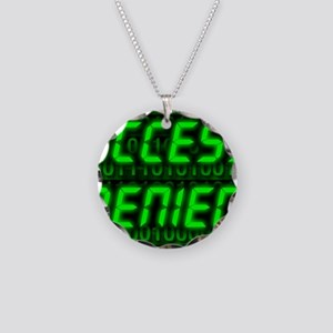 Electronic security Necklace Circle Charm