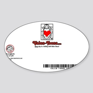 2203A-THE-JESTER-BACK Sticker (Oval)