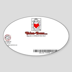 2404A-THE-SMITHS-BACK Sticker (Oval)