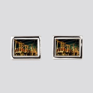 Electricity substation at night Cufflinks