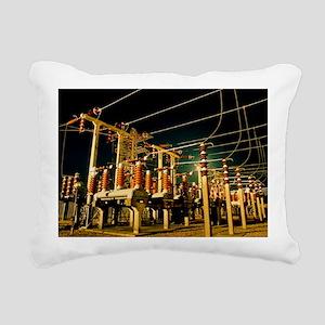Electricity substation a Rectangular Canvas Pillow