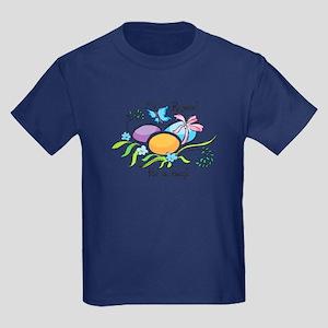 Easter Egg Rejoice Kids Dark T-Shirt