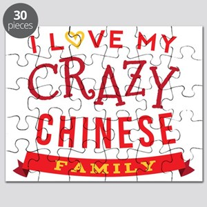 I Love My Crazy Chinese Family Puzzle