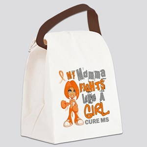 D Momma Fights Like Girl MS 42.9 Canvas Lunch Bag