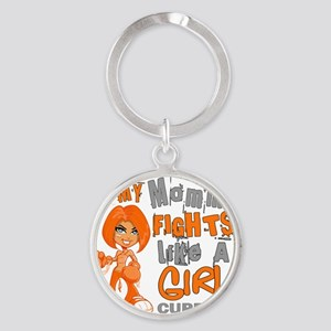 D Momma Fights Like Girl MS 42.9 Round Keychain